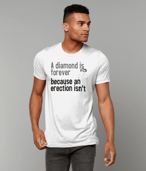 A diamond is Forever Unisex Crew Neck T-Shirt diamond