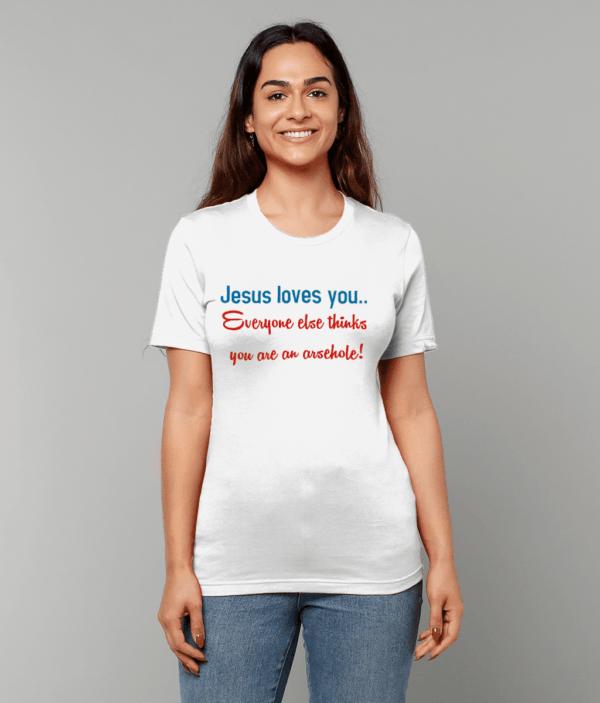 Jesus loves you Unisex Crew Neck T-Shirt Jesus loves you