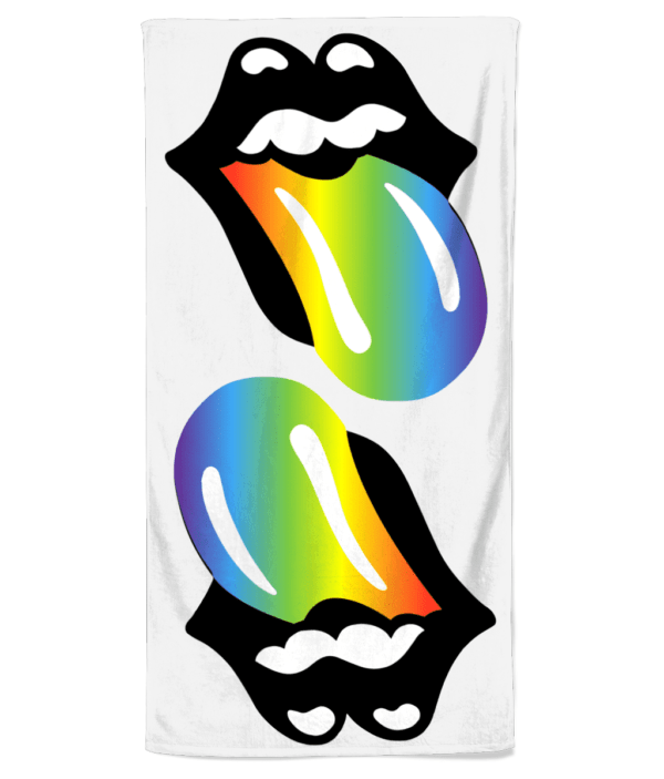 Beach Towel rainbow-tongue beach towel