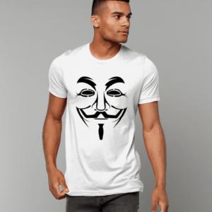 Adults Hacker Face T shirt