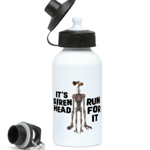 400ml Water Bottle Run for it – its Siren Head