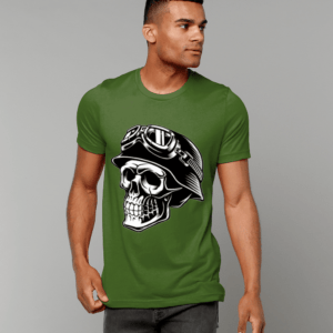 Skull Biker Unisex Adults T shirt