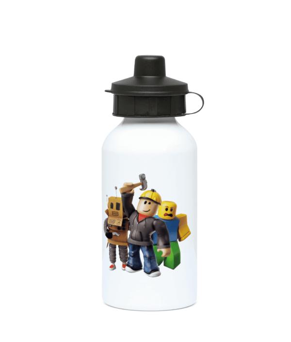 builder man Mr robot and the noob 400ml Water Bottle builder