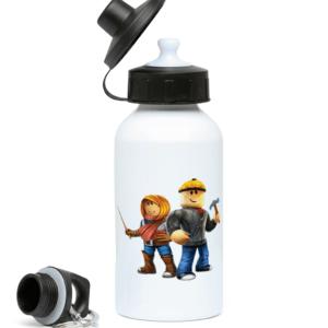 Roblox Builder man and Friend 400ml Water Bottle Roblox Builder man and Friend