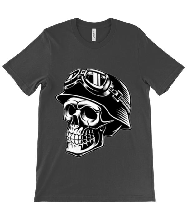 Skull Biker Unisex Adults T shirt biker