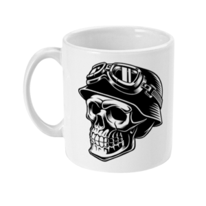 Skull Biker Helmet 11oz Mug