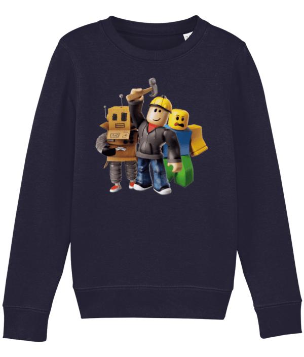 builder man Mr robot and the noob child's sweatshirt builder man