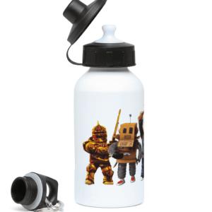 Redcliffe elite manager, Mr robot, Builderman, Noob, Ezebel the Pirate Queen 400ml Water Bottle
