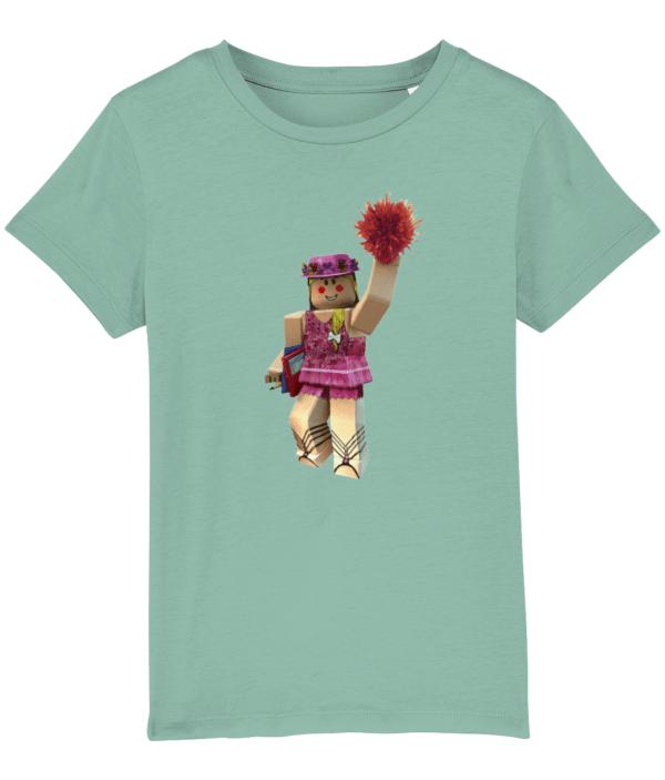 Pink ROBLOX Cheerleader girl with PomPoms cheerleader