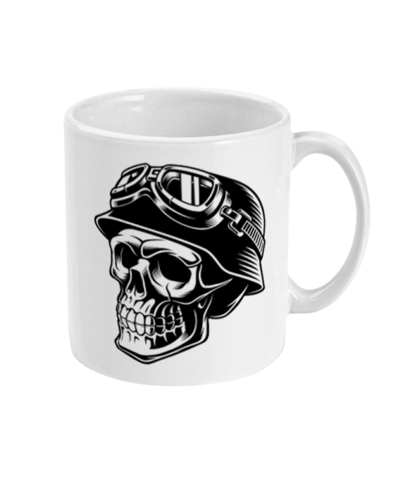 Skull Biker Helmet 11oz Mug Skull Biker Helmet 11oz Mug