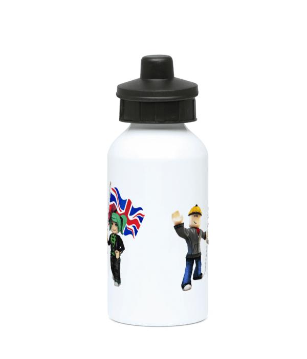 Builder man, GeeGee92 and UK Flag 400ml Water Bottle builder man
