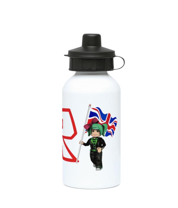GeeGee92 with UK flag 400ml Water Bottle GeeGee92