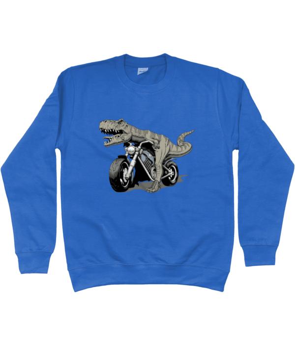 Bargain Range Child's Dino Bike Sweatshirt dino