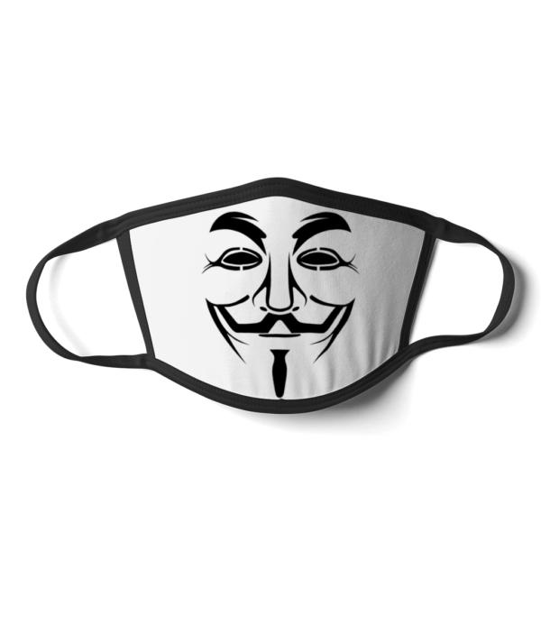 Face Mask Hacker Man Face Mask Hacker Man