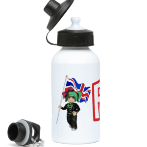 GeeGee92 with UK flag 400ml Water Bottle