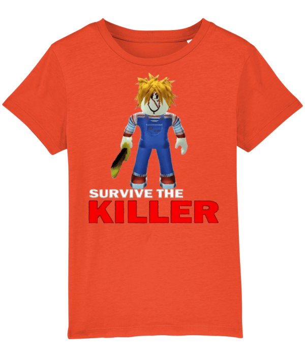 chucky skin from survive the killer child's t-shirt chuckie