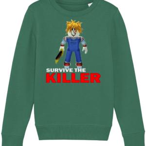 chucky skin from survive the killer child's sweatshirt