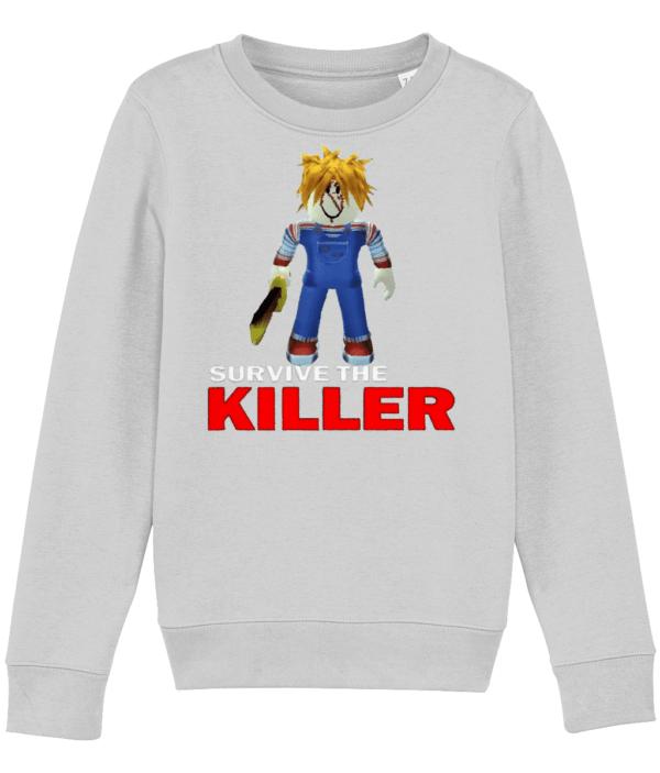 chucky skin from survive the killer child's sweatshirt sweatshirt