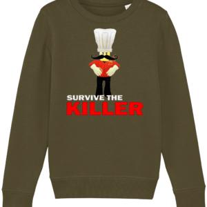 papa roni survive the killer child's sweatshirt