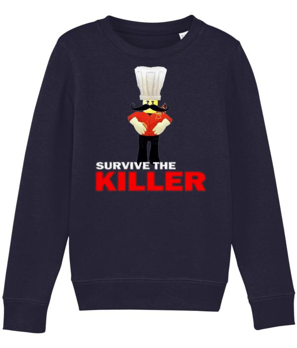 papa roni survive the killer child's sweatshirt papa roni survive the killer child's sweatshirt