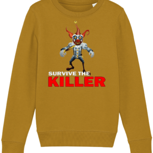 Happy the clown from Survive the Killer Child's sweatshirt