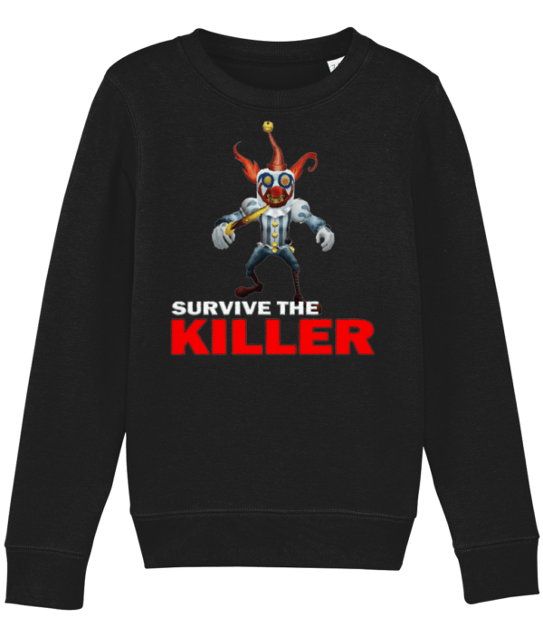 Happy the clown from Survive the Killer Child's sweatshirt happy the clown