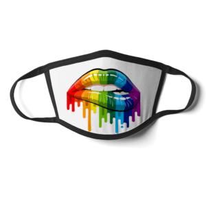 Rainbow Lips Face Mask Rainbow Lips Face Mask