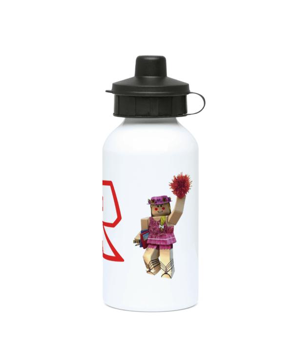 Roblox Cheerleader girl with pink pompom 400ml Water Bottle roblox cheerleader