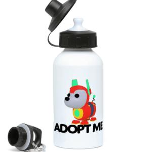 robo dog adopt me 400ml Water Bottle robo dog