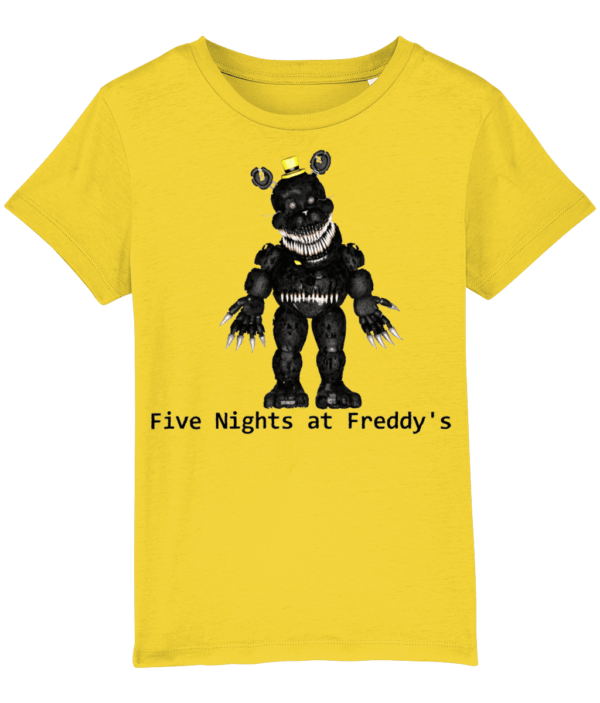 black primate robot from Five night's at Freddy's child's t-shirt black primate robot