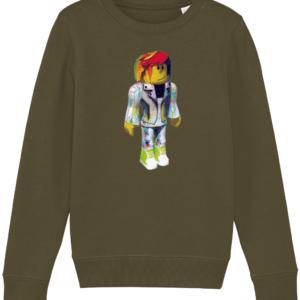 pixel artist from Roblox child's sweatshirt