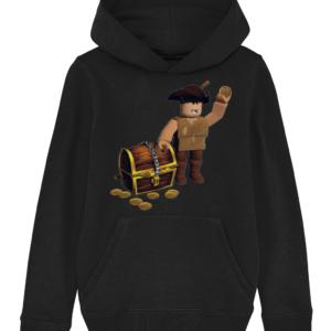 buck eye the pirate child's hoodie