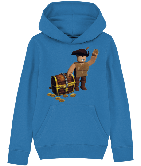 buck eye the pirate child's hoodie buck the pirate