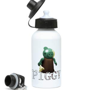Zombie from Piggy Game 400ml Water Bottle
