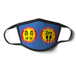 Keep 2m apart Face Mask – social distancing keep apart