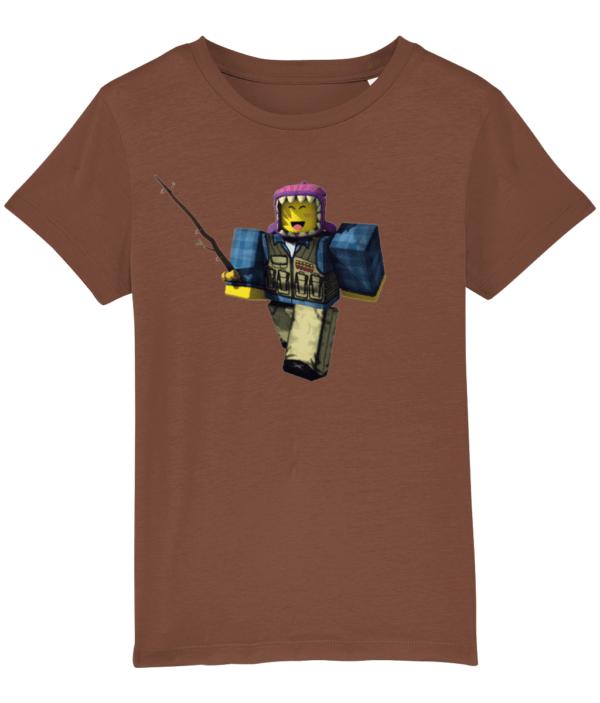 meep city fisherman from Roblox, child's t-shirt child's t shirt