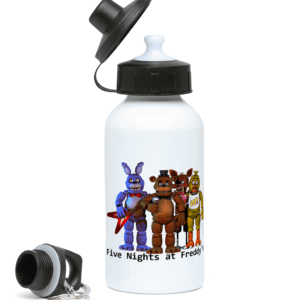 five nights gang 400ml Water Bottle toy barnie, fasbear, foxy, funtime chica