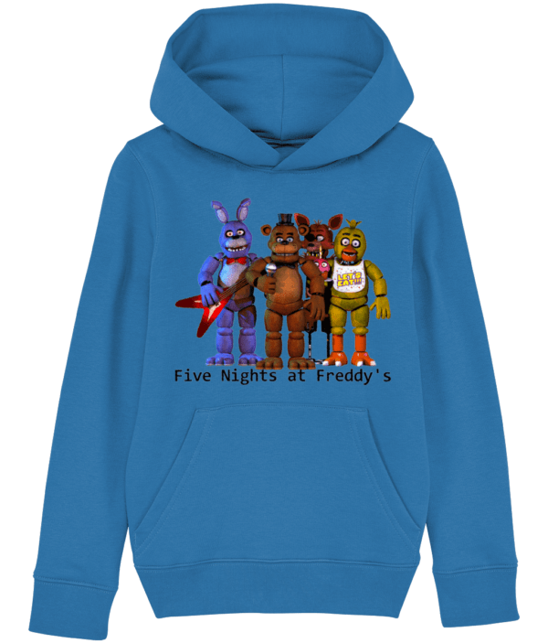 Five nights gang of Toy barnie, Fasbear, Foxy and Funtime Chica child's hoodie fasbear
