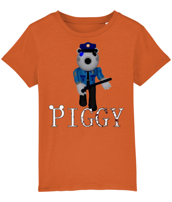 Poley the policeman from piggy child's t-shirt Poley the policeman