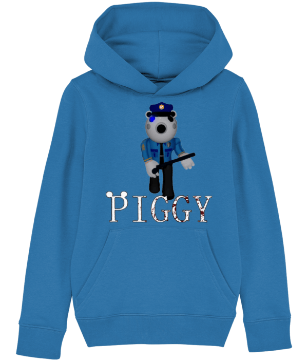 Poley the policeman from piggy child's hoodie Poley the policeman