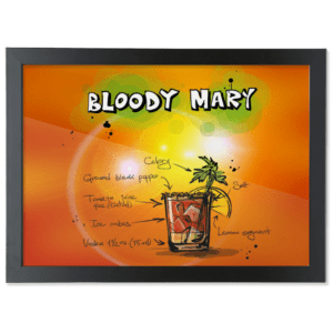 Framed A3 Fine Art Print – Landscape/Black bloody-mary bloody mary