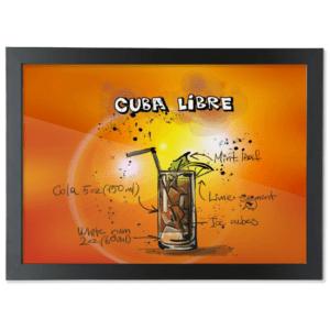 Framed A3 Fine Art Print – Landscape/Black cuba-libre cubra libre