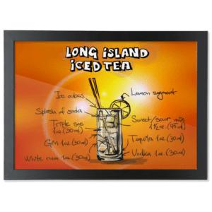 Framed A3 Fine Art Print – Landscape/Black long-island-iced-tea