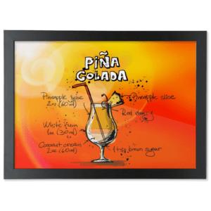 Framed A3 Fine Art Print – Landscape/Black pina-colada