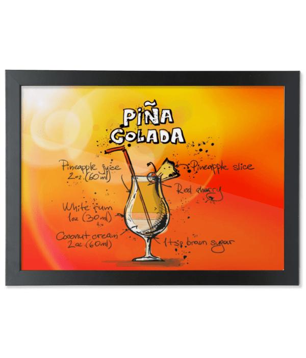 Framed A3 Fine Art Print – Landscape/Black pina-colada pina-colada