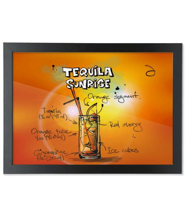 Framed A3 Fine Art Print – Landscape/Black tequila-sunrise