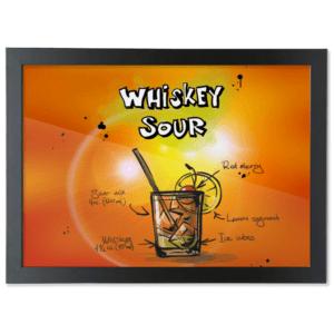 Framed A3 Fine Art Print – Landscape/Black whiskey-sour-cocktail