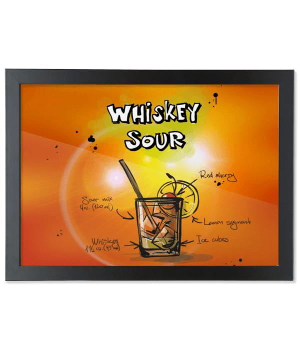 Framed A3 Fine Art Print – Landscape/Black whiskey-sour-cocktail whiskey sour