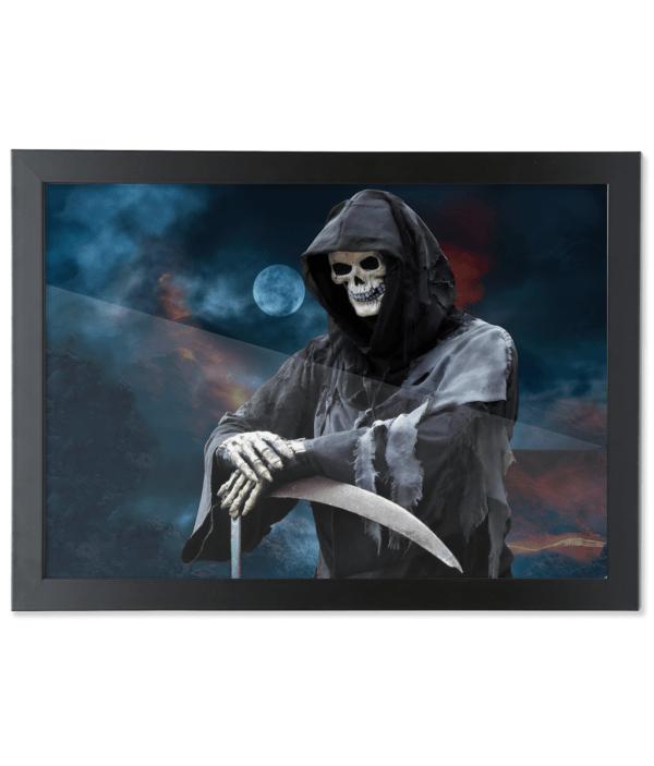 Framed A3 Fine Art Print – Landscape/Black Nice to see you grim-reaper