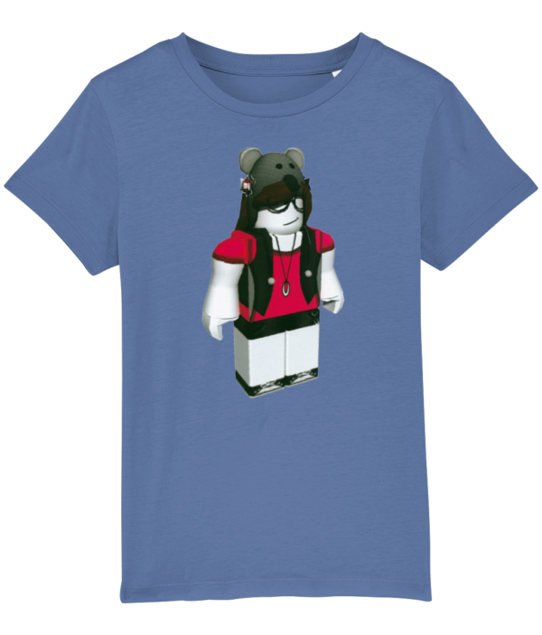 shade of blue Roblox child's t-shirt shade of blue